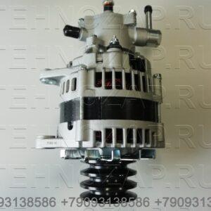 Генератор Isuzu NQR71/75 4HG1/4HK1/4HF1 24V/80А квадр. фишка 8973515740